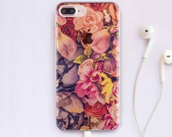 Flowers iPhone 7 Case iPhone 6 Case iPhone 6 Plus Case Floral iPhone 7 Case iPhone 5 Case For Samsung Galaxy S7 Case For Samsung S6 Case 018