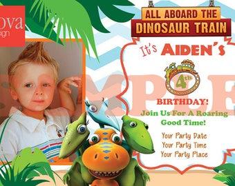 Dinosaur Train Birthday Invitation Set