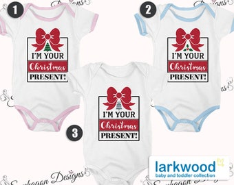 Christmas Gift Vest Set, Baby Vest,