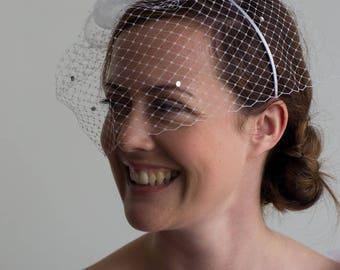 Bridal Veil headband, chic and romantic