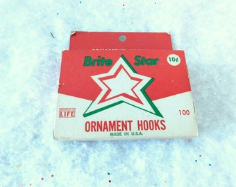 Time Life Vintage Christmas Ornament Hooks  by Brite Star   Original Box 1960s SHIPPING INCLUDED