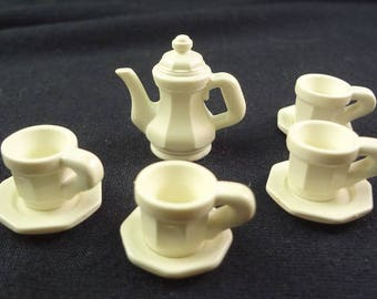 Playmobil, Victorian Mansion, Playmobil Tea Set, Tiny Tea Set, Playmobile, Victorian Play Set
