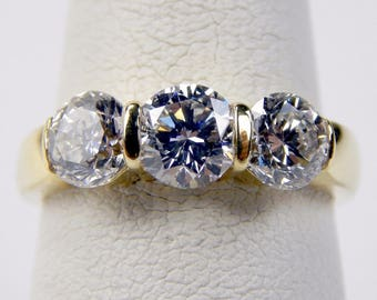 18k yellow Gold 2.29 Ctw VS2 - G diamond ring #10501
