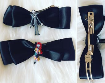 Jack & Sally Hair Bow Clips