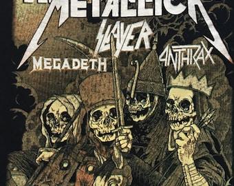 The big 4 tour shirt-Metallica Slayer Anthrax Megadeth