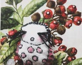 Little ladybug. One very small ladybug brooch. One of a kind. Natures little garden keeper.