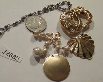 Vintage, Destash, Component, Supply, Salvage Lot, Art Deco, Mixed Media, Jewelry lots, Supply, J2885