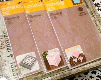 """3 pk Bundle Set by Cricut Cuttlebug - 5 x 7"""" Embossing Templates by Anna Griffin : Modern Vines, Aviary, Flower Grid"""