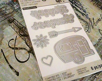 Recollections etsy recollections happy camper 6 pc crafting cut and emboss templates sizzix pronofoot35fo Gallery