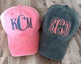 Monogram Ball Cap - Monogram Cap - Monogram Hat - Monogrammed Cap