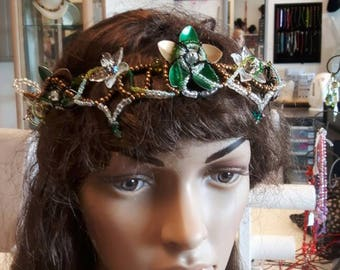 Green/gold tiara