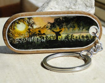 Key ring with a deer