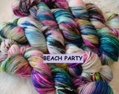 READY To SHIP, Various Bases, Sprinkles, Hand Dyed Yarn, Color - Beach Party