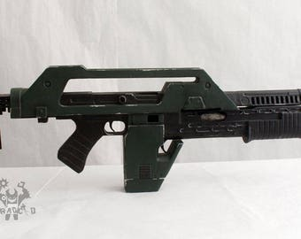 M41A Pulse Rifle Lifesize Forjadict3d Replica. Fan Art.