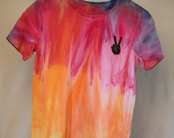 25% OFF ENTIRE SHOP Size 10 - Ready To Ship - Unisex - Children - Kids - Tie Dyed T-shirt - Tee's - 100 Percent Cotton - Free Shipping withi