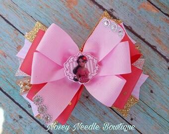 Elena of avalor hair bow, Elena of avalor hair clip, Elena of avalor headband, Elena of avalor bow, hair bow, Elena of avalor birthday