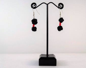 Rose Earrings - Halloween - Day of the Dead