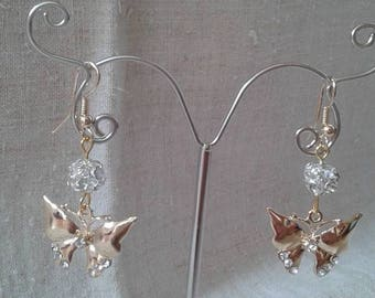 "Earrings ""butterfly gold"""