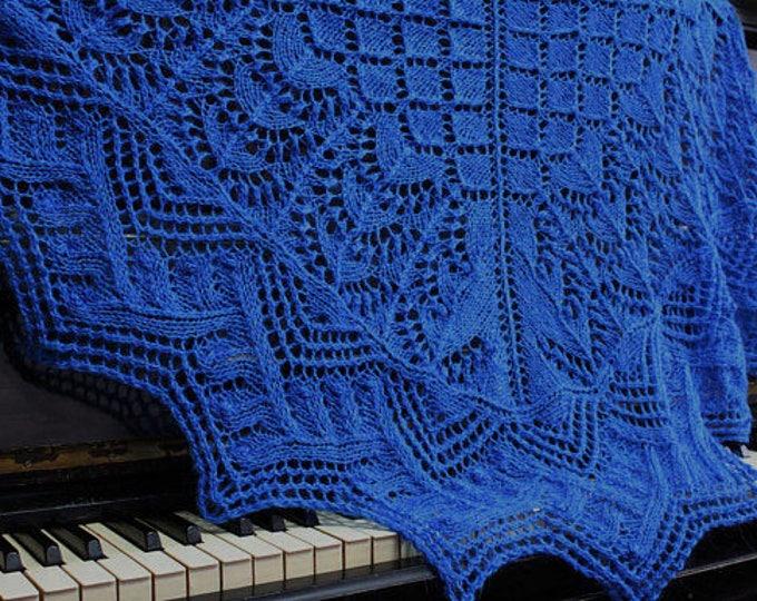 Knitted shawl, blue shawl, knit scarf, triangular scarf, mohair shawl, openwork scarf, downy shawl, lace shawl, knit shawl, knitted scarf