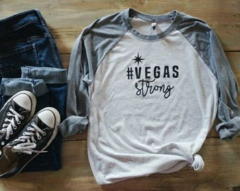 Vegas strong shirt, Vegas 3/4 shirt, hashtag shirt
