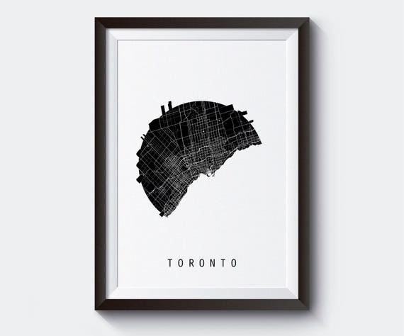 Toronto Map Canada Map World Map Maps Black And White Map