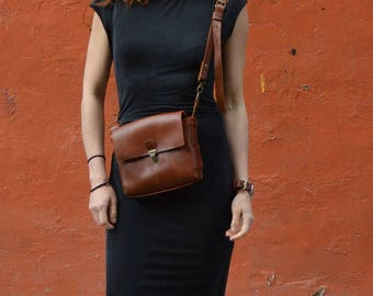 Leather purse/ Leather Clutch / Bag/ Cross body