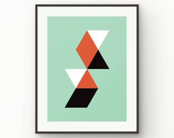 Modern, Abstract, Contemporary Art, Minimalist, Mid Century Modern, Geometric, Printable Art, Instant Download, Printable, Poster