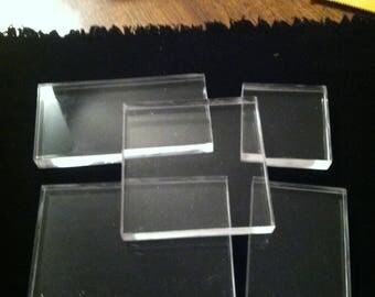 Acrylic Block 5 Piece Set - B