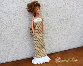 Evening dress for Barbie or other doll. Hand made