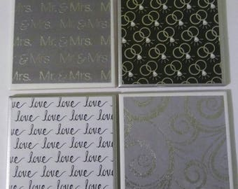 Great wedding gift coasters, 4 for 20.00