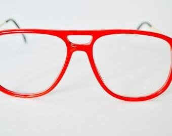 Vintage Sferoflex Red Eyeglasses Frame