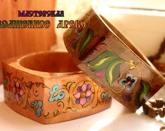 "Bracelet wooden ""Ancient Russian"""