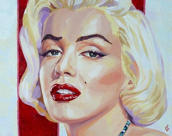 Marilyn Monroe/Marilyn Monroe. A third of the oil on the 50 canvas see