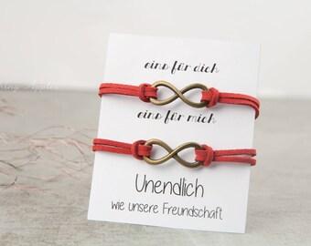 Friendship Bracelet Kit - infinity, color: bronze / friendship, infinity, infinity