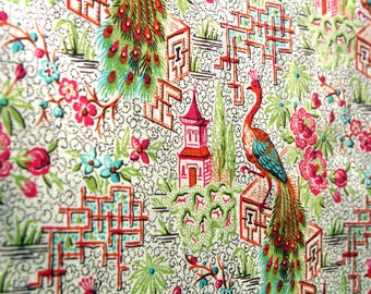 Japanese PATCHWORK CHINOISERIE Designer fabric: ANNA GRIFFIN