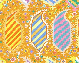 KAFFE FASSET HERALDIC GOLD PATCHWORK fabric