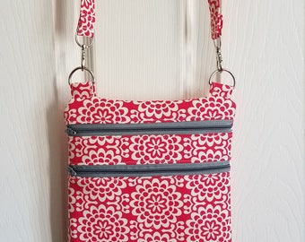 Zip and go bag , Amy Butler true color collection -handmade
