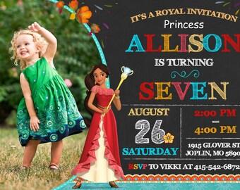 Elena of Avalor Invitation Elena of Avalor Invitation Birthday - Elena of Avalor Party