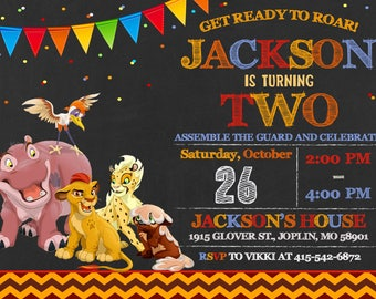 Lion Guard Invitation Birthday - Lion Guard Party
