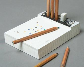 Memo Pad & Organizer - Color Pencils