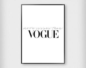 More Issues Than Vogue Print | Fashion | Black - White | Magazine - Typography - Poster