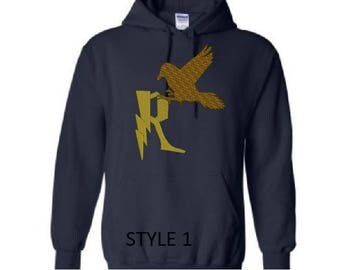 RavenClaw Inspired Hoodie 2 Different Styles, Custom Embroidered hoodie