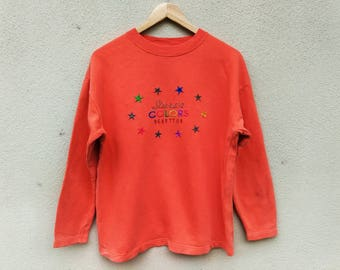 Vintage United Colors of Benetton embroidery multicolor