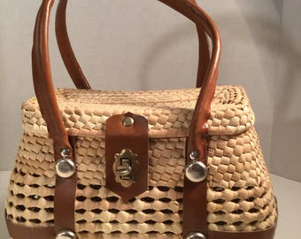 Straw Handbag Made Of Straw