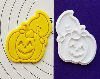 Pumpkin Ghost Cookie Cutter and Stamp