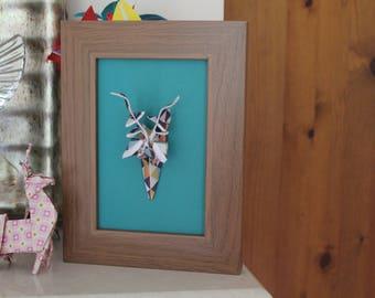 Origami Paper Deer Head Frame
