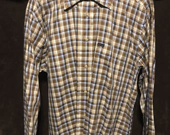 Faconnable size medium dress shirt button down usa made