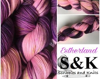 Estherland: Ch.2-Seductive Magic - Hand Dyed Yarn - Superwash Merino/Nylon Blend - 100g 463 yards