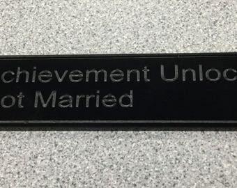 Achievement Unlocked Wedding Present Office or Home Decor