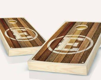 Monogram Rustic Cornhole Boards